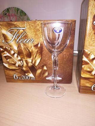 Juego copas de cristal de Bohemia PRECIO ESPECIAL