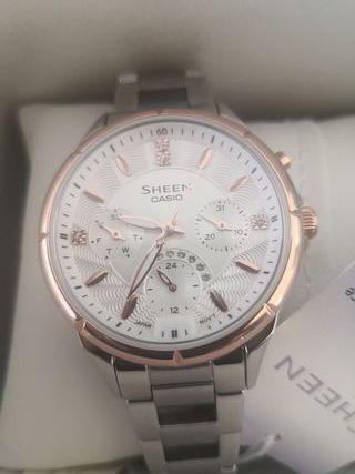 Reloj Casio Sheen Swarovski. Nuevo.