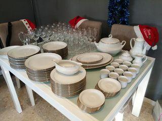 vajilla porcelana, cristaleria y REGALO LICORERA