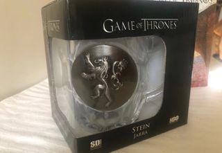 Jarra cristal escudo metálico Lannister