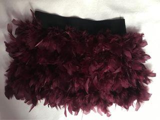 Falda mini pluma