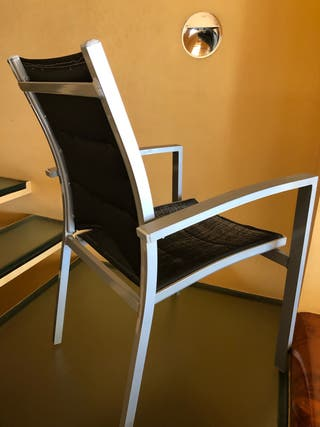 Sillones, sillas en aluminio diseño de jardín.
