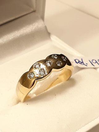 anillo oro y brillantes