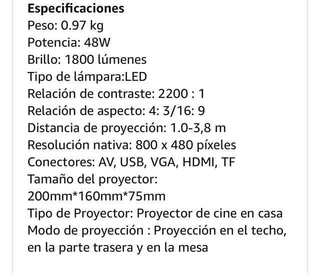 Proyector LED HD