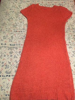 Vestido ADOLFO DOMÍNGUEZ U Rosa de punto talla M