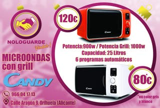 MICROONDAS CANDY EGO con grill