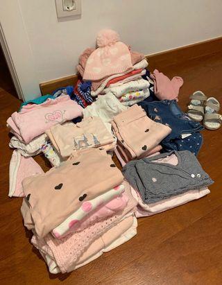 40 piezas ropa niña 0-12 meses. Variado.
