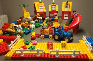 Lego Duplo granja + animales circo + atracciones