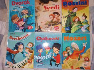 Libros infantiles de música clásica con CD