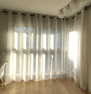 Barras cortina + soportes techo + codo esquina