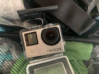 GoPro Hero 4 Silver + kit accesorios,sandisk 64 Gg