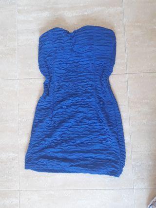 vestido fiesta azul eléctrico