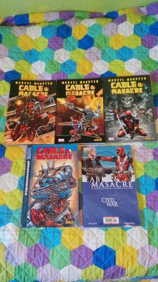 Cable & Masacre 5 Tomos Colección Completa