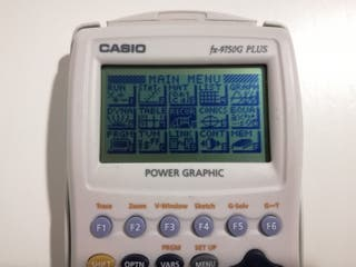 Calculadora casio fx 9750G Plus