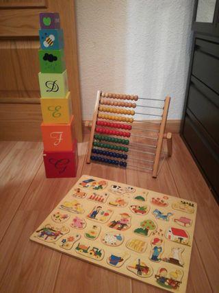 REBAJADO!!! lote juguetes de madera 2-4 años