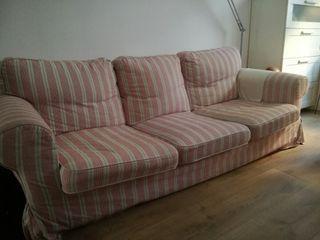 sofá Ikea con funda extra