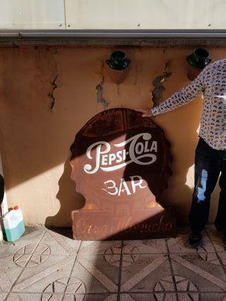 vendo chapa pepsi cola antigua letras en relieve