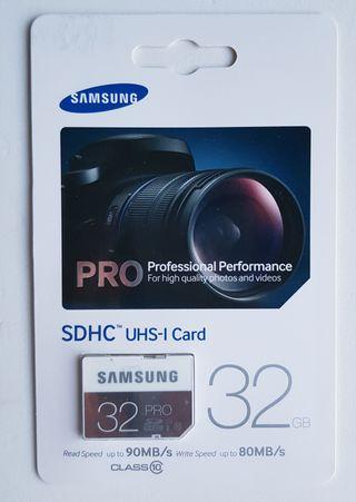 Tarjeta memoria Samsung SDHC Pro Clase 10
