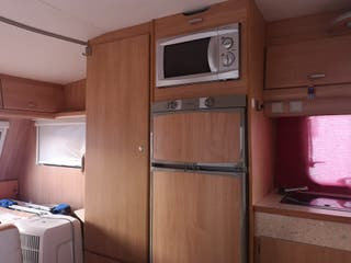 caravana instalada en camping Doñana