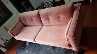 Sofa 4 plazas terciopelo Alva-Rosa. Port Maine