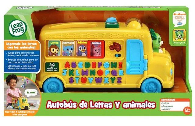Autobús de letras y animales Infalntil