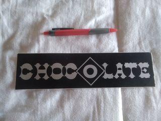 Pegatina,adhesivo o sticker Chocolate. 25x6,5cm.