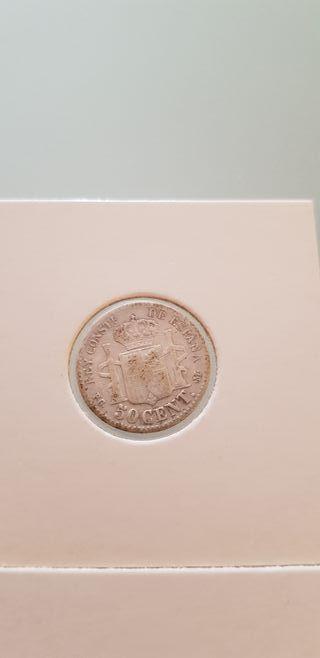 lote monedas plata 50c 1898 1900 1904 1-0, 0-4