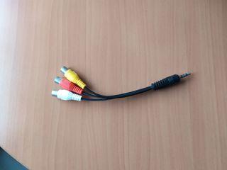 03-00106 - CABLE MINIJACK MAHO A 3 RCA HEMBRA