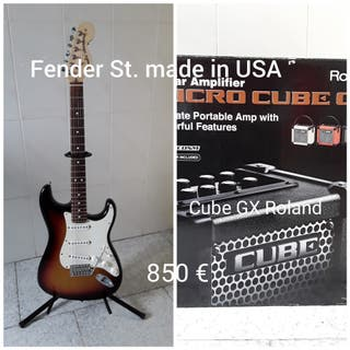 Fender St. made in USA + Micro CUBE ROLAND