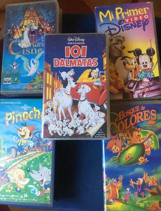 Lote películas infantiles VHS