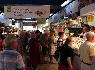 Pescadería en el Mercado de Pere Garau