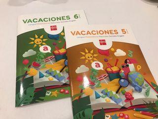 Libros Repaso VACACIONES 5 y 6 Primaria