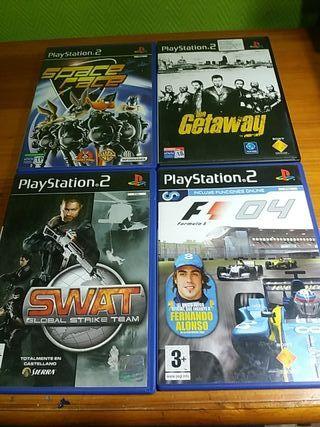 4 juegos Ps2