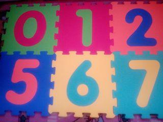 Puzzle espuma números