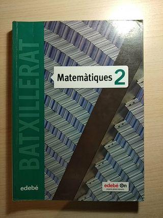 Libro de texto Matemàtiques 2 Batxillerat Edebé