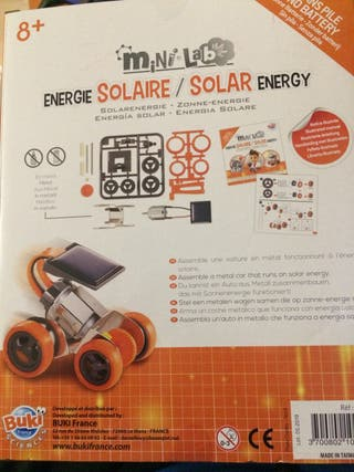 15 Mini lab energia solar coche NUEVO ESTRENAR