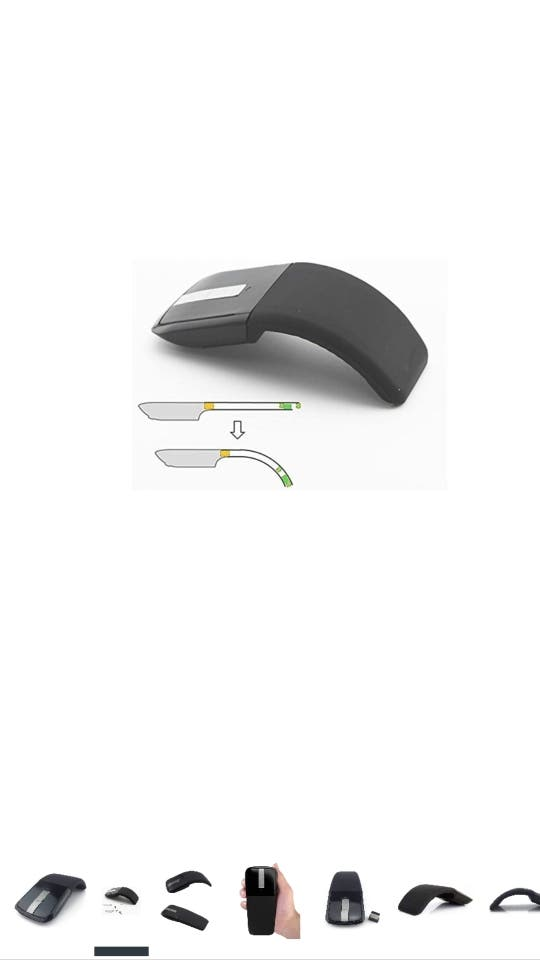 raton pc rueda táctil sin cables