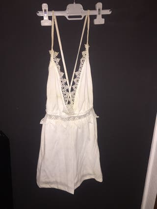 Mono blanco Pull and Bear