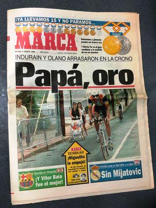DIARIO MARCA INDURAIN ORO OLIMPIADAS ATLANTA