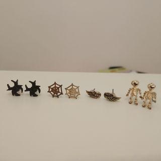 Collection of Halloween earrings