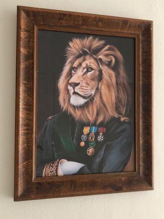 Cuadro león 32 x 40