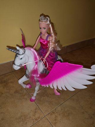princesa con unicornio