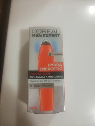 L'Oreal Paris Men Expert Hydra Energetic Roll On Ojos Anti Bolsas + Anti Ojeras con 2 Vitaminas 10 ml