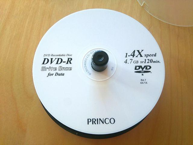 DVDs en blanco