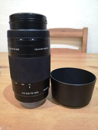 objetivo Sony 75-300. 4,5-5,6
