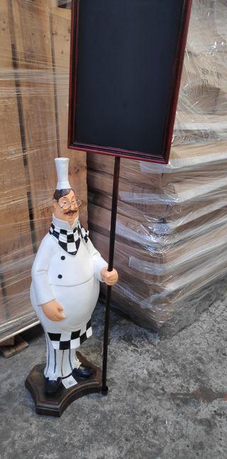 Figura chef pizarra