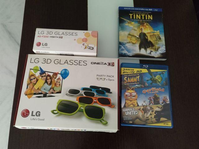 Tintin Blu-Ray 3D + Pack 3D + Gafas