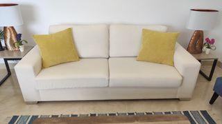 Sofa Blanco 3 plazas Sam