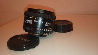 Objetivo Nikon AF nikkor 50mm 1:1,8.