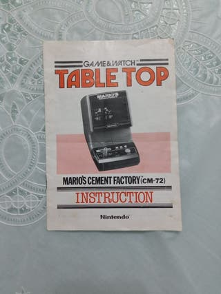 instrucciones Game&watch